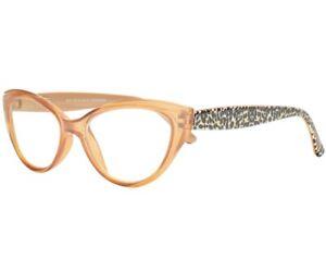 Betsey Johnson Designer Blue Light Blocking Glasses Cat Eye Leopard Frames NEW