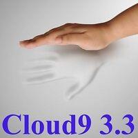 "CLOUD9 3.3 CAL-KING 2"" MEMORY FOAM MATTRESS PAD, BED TOPPER"