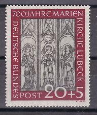 Postfrische Briefmarken aus der BRD (1948-1954) mit Bauwerks-Motiv