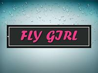 Sticker decal airplane aircraft airport plane fly girl