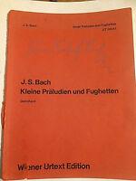"""Joh. Seb. Bach : """" Kleine Präludien und Fughetten """" ( URTEXT )"""
