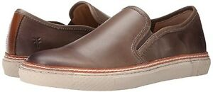 $225 Frye Men's Gates Slip On Stone Leather Sneaker Casual Shoes 9