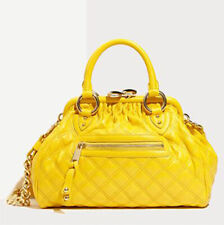 MARC JACOBS Mini Stam Yellow Quilted Leather Frame Shoulder Bag
