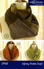 INFINITY POCKET SCARF SEWING PATTERN, From Indygo Junction NEW