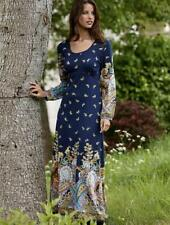 Full Length Paisley Long Sleeve Casual Dresses for Women