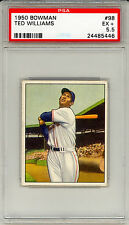 1950 BOWMAN TED WILLIAMS #98 PSA 5.5 EX+! RED SOX! HOF! CENTERED! FREE SHIP