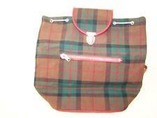 Vieux sac à dos de randonnée pour enfants, tartan à carreaux ddr
