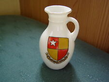 CASTLE HEDINGHAM ESSEX CREST - NEWCASTLE JUG - GOSS CRESTED CHINA