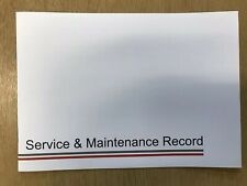 FIAT SERVICE BOOK ALL MODELS COVERED BLANK BRAND NEW SERVICE BOOK