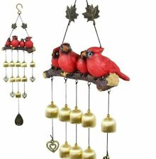 Monsiter Wind Chimes with Birds Decoration Outdoor Garden and Home Decor-Red