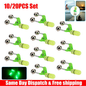 KISEER 50 Pcs Plastic Fishing Bells Clips Fishing Rod Alarm with Dual Alert Bells