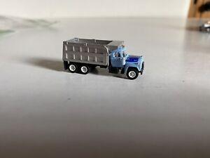 Athearn N Scale Train Mack R-Model, Dump Truck, Blue