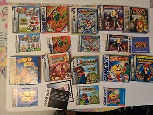Nintendo Gameboy Lot Of 10 Boxes Only Empty Box No Games *Authentic *Ships Fast*