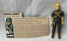 New listing Vintage 1982 G.I. Joe Rock 'N Roll Straight Armed V1 Figure w/ File Card