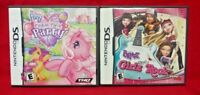 Bratz Girlz Rock + My Little Pony MLP Nintendo DS Lite 3DS 2DS 2 Game Lot Tested