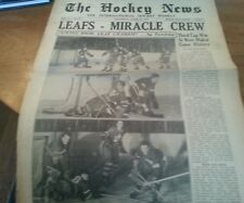 Hockey News APRIL 20, 1949 Toronto Maple Leafs WIN Stanley Cup