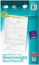 Avery 73897 Legal Heavyweight Diamond Clear Sheet Protector Pvc Free 25 Pack