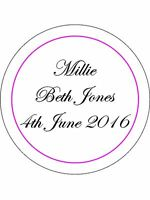 30-90 PRE-CUT EDIBLE WAFER CUP CAKE TOPPERS PERSONALISED NAME DATE TEXT PINK