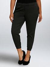 Torrid Pinstripe Banded Cropped Trouser Pants Gray Black Size 14 #14462
