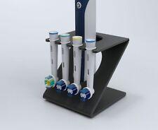 Electric Toothbrush Head Holder Oral B Heads 4 Head Stand PO34 Dark Grey (Matt)