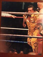 Jimmy Superfly Snuka (d'17) signed 8x10 vintage candid wrestling photo WWE WWF