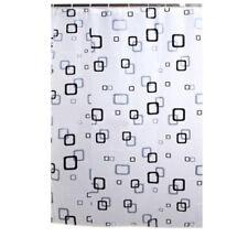 180 x 180 cm Negro Blanco Cortina de ducha de baño tela impermeable R6U2
