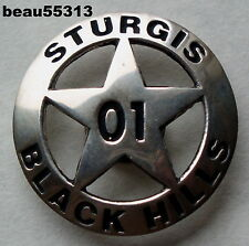 2001 STURGIS BLACK HILLS SOUTH DAKOTA STAR BIKE WEEK VEST JACKET CONCHO PIN
