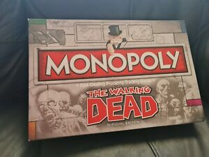 """Monopoly The Walking Dead """"Survival Edition"""" Board Game"""