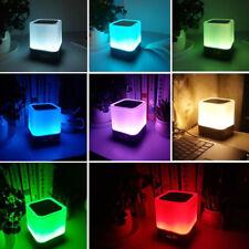 Bluetooth Haut-parleur sans fil Dimmable + Couleur Lampe de Nuit