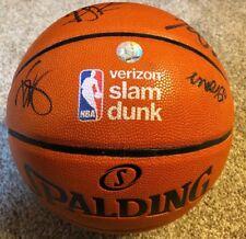 2017 NBA Slam Dunk ASG Signed Auto Basketball Gordon, DeAndre Jordan, Robinson +
