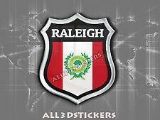 3D Emblem Sticker Resin Domed Flag Raleigh - USA Adhesive Decal Vinyl