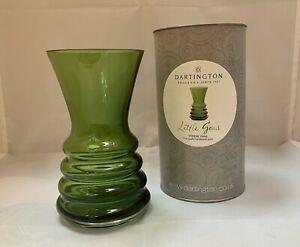 Dartington Little Gems Wibble Vase, Green, NIB