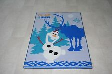 Quality Disney Frozen Rug Olaf / Sven Play Mat Rug 133cm x 95cm Non Slip