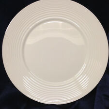 "ROYAL DOULTON GORDON RAMSAY PLATINUM SALAD PLATE 9"" WHITE EMBOSSED RINGS"