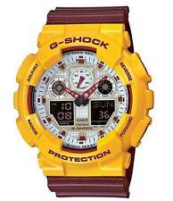 Casio G-Shock *GA100CS-9A Anadigi Maroon & Yellow XL Ivanandsophia COD PayPal