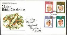 Gb Fdc 1980 Music, British Conductors Cambridge Fdi #C35311