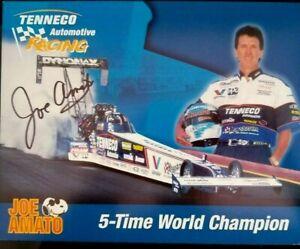 JOE AMATO TENNECO SIGNED 5 TIME WORLD CHAMPION T/F DRAGSTER HANDOUT
