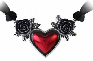 Alchemy England - Blood Heart Choker Necklace, Love Roses Punk Gothic Pagan Gift