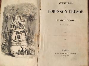 1840 EO Robinson CRUSOE GRANDVILLE GRAVURES DANIEL DEFOE  État Moyen