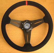 Volant Tuning en Cuir et Daim VW Transporter T3 T4 T25 T5 Caravelle New Beetle