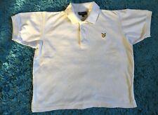 Men's Lyle & Scott Vintage Polo T.Shirt Top UK Size Small Beige Used !