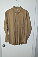 BROOKS BROTHERS Cotton  L/S Sport shirt Mens Brown Size L