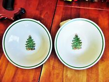 2 Used Christmas Tree Badcock Home Furnishing Centers Soup Cereal Pasta Bowls