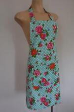 Pink Orange Roses Green Polka Dots Country Farm House 100% Cotton Women's Apron