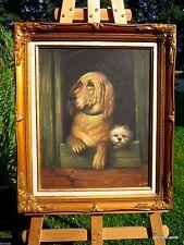 Künstlerische 1950-1999er Malereien mit Hund-Motiv