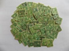 Bulk lot of US unchecked 1 cent used Franklin stamps off paper-5-UN