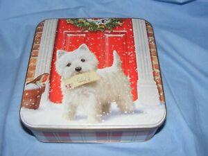 Scottie Dog Christmas Biscuit Tin West Highland Terrier