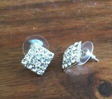 Handmade Rhinestone Glass Round Costume Earrings