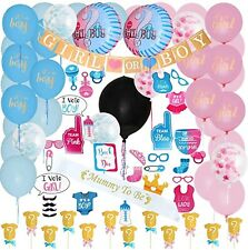 Gender Reveal Party Supplies Baby Shower Boy Or Girt Decoration Kit 109pcs NEW
