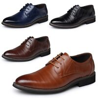 Business Shoes Mens Oxford Wedding Calf Leather Italian brogues plus Size 5-14
